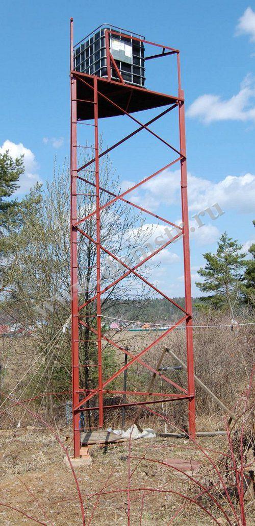 Водонапорная башня для дачи своими руками